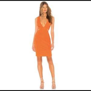Orange Revolve Cocktail Dress